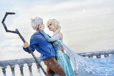 Jack Frost and Elsa.