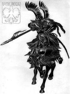 The Polish Army had a special unit of horseman known as the Polish Hussar? They would wear wings on their armor to strike fear in their enemies. Shane Tattoo, Polish Tattoos, Poland History, Super Pictures, Middle Ages, Tattoos For Guys, Tatoos, Art Gallery, Lion Sculpture