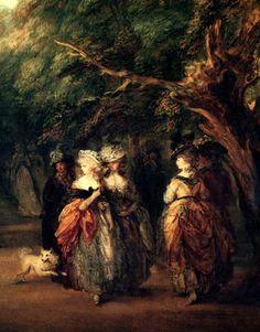 Thomas Gainsborough  - Lavenue en parc de St.James, détail  1783