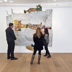 El Anatsui, seen during a NYC gallery visit with clients