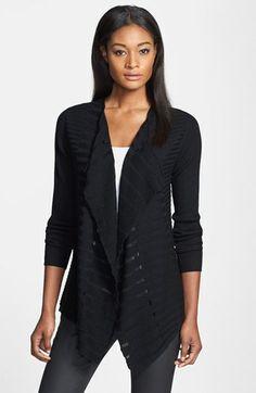 Eileen Fisher Shadow Stripe Merino Cardigan | Nordstrom