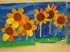 The Clever Feather: Painted Sunflowers-Kindergarten