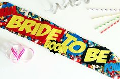 Wonder Woman hen party sash - alternative geeky comic book hen party accessories                                                                                                                                                                                 More