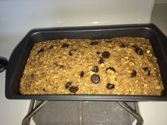 Chocolate chip oatmeal bread which is 21 Day Fix approved. Use as a 21 Day Fix breakfast.