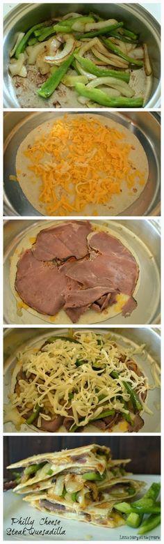 Philly Cheese Steak Quesadilla | Food Blog
