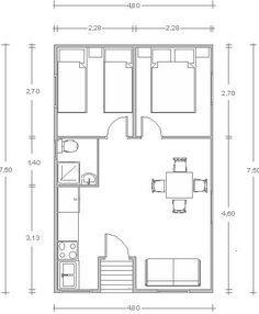 Vivienda construida en maddra de 36 m2 2 habitaciones, 1 cuartos de baño completo, cocina, salón comedor.Cabaña ideal para el campo