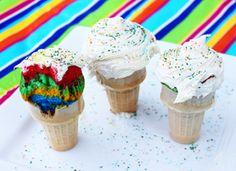 Ice Cream Cone Cupcakeshttps://www.bettycrocker.com/tips/tipslibrary/baking-tips/rainbow-ice-cream-cone-cupcakes?nicam4=SocialMedia=Facebook=BettyCrocker=Post#