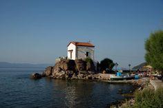 Παναγιά η Γοργόνα ⛪️ Greece, Sweet Home, Around The Worlds, Mansions, House Styles, Places, Water, Outdoor, Home Decor