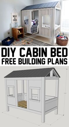 How adorable is this? DIY cabin bed - with free plans! How adorable is this? DIY cabin bed - with free plans! How adorable is this? DIY cabin bed - with free plans!