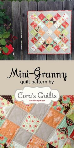 Mini Granny Quilt Pattern by Cora's Quilts