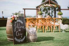 Jillian & Craig - Flaxton Gardens Arbour Ceremony overlooking the Flaxton Escarpment with views of the Sunshine Coast.  {Photography by Studio Impressions}