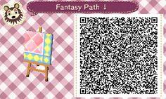 Animal Crossing QR Codes ❤ Pink Fantasy  Diamond path  Lower Right Corner TILE#4 of 9
