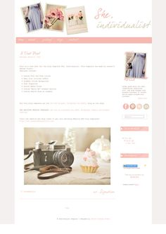 She, Individualist - Blog Template. $45.00, via Etsy.