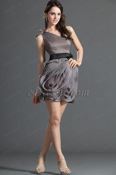 Shimmering One Shoulder Party Dress