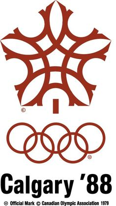 The evolution of the Olympic logo - Calgary Winter Games in 1988 in Canada. (IOC)
