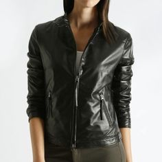 Lauren Jacket Glover Leather   Womens Leather Jackets   Roots  #rootsbacktoschool
