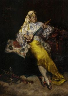 ♪ The Musical Arts ♪ music musician paintings - Charles Auguste Emile Durant  | The Entertainer