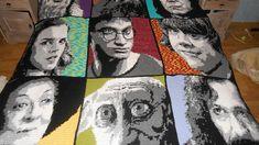 Harry Potter Blanket - Crochet creation by Joyce -- I am mystified...and in love!!!