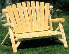 Enjoy the subtle grain beauty of this 4 foot cedar log Love Seat with your favorite Rustic Outdoor Furniture, Outdoor Chairs, Outdoor Decor, Cedar Log, Solid Wood, Love Seat, Home Decor, Decoration Home, Room Decor