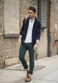 Marcel Floruss of One Dapper Street wears the Charlie navy blazer