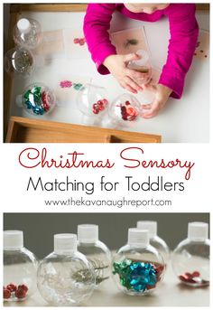 The Kavanaugh Report: Christmas Sensory Matching for Toddlers
