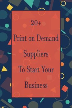 A full list of print on demand suppliers. companies to choose from. Whether you are looking to start a general print on demand store or a niche store. Earn Extra Income, Earn Extra Cash, Making Extra Cash, Cash From Home, Make Money From Home, Way To Make Money, Motivational Quotes For Entrepreneurs, Make Your Own Puzzle, Online Entrepreneur