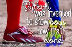 "EXACTLY!!!! THAT'S RIGHT and just because it is called ""softball"" That ball IS NOT SOFT!!!!"