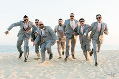 Get the groomsmen runnin!  Cabo Wedding at Barcelo