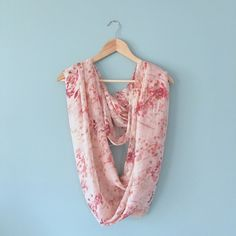 NWOT Springy Vintage Floral Infinity Scarf NEW WITHOUT TAGS // Springy Vintage Floral Inspired Infinity Scarf // colors are peaches, pinks, purples // extremely light and soft material! Can dress it up or down // New York and Company brand // non-smoking home ........ 20% off 2+ Bundles // Same Day or Next Day Shipping!!  New York & Company Accessories Scarves & Wraps