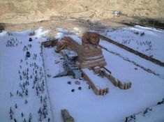 Two images of a snow covered Sphinx were widely shared on social media recently (the images appeared after Cairo saw its first snowstorm in many years). However, the photos are actually of a miniature model featured at the Tobu World Square theme park in Japan.