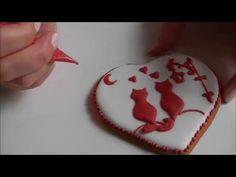 Мастер класс по украшению пряника ко Дню Валентина /How to decorate gingerbread to St Valentine Day - YouTube
