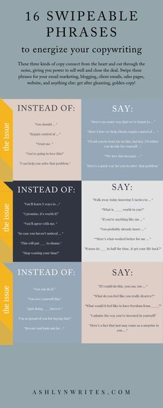 16 Copywriting For Beginners Swipeable Phrases Social Media Marketing Business, Email Marketing, Marketing Ideas, Affiliate Marketing, Social Media Content, Social Media Tips, Writing Skills, Writing Tips, Motivacional Quotes