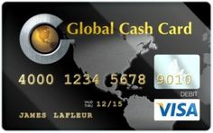 global cash card account number for direct deposit