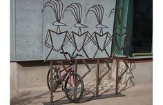 bike rack art | ... art/bike racks. This is a bike rack by Bates Fisher-Webster in