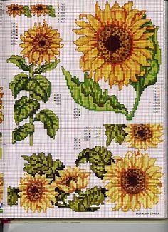 My favorite flower in cross stitch.