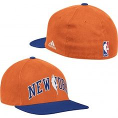 adidas Knicks Flat Brim Flex Hat [Orange]