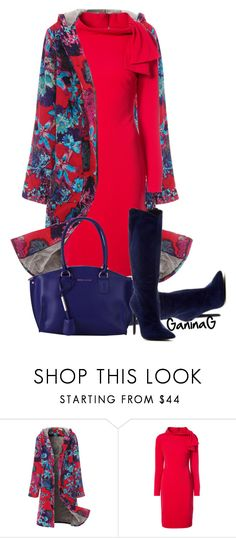 """""""Floral coat"""" by ganing on Polyvore featuring мода, WithChic, Badgley Mischka, Jeffrey Campbell и Tuscany Leather"""