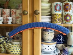 Crochet clothes hanger by *Mirre*, via Flickr