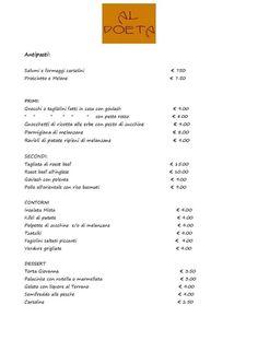 Condiviso inizialmente da Bar Trattoria Al Poeta Bar Trattoria Al Poeta; http://www.alpoeta.it Ecco i nostri nuovi menù