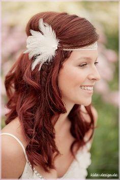 Haarschmuck & Kopfputz - Haarschmuck Spitze Haarband Belle Boheme Liv - ein Designerstück von Kido-Design bei DaWanda