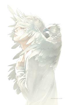 Imagem de art, anime, and white