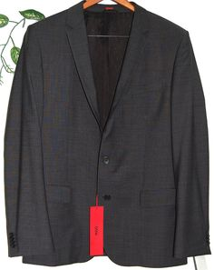 Hugo Boss Brown Mens Wool Jacket Blazer Size 44R US $ 557  NEW #HUGOBOSS #TwoButton