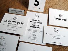 Printable Wedding Invitation Kit - Monogram Arrows