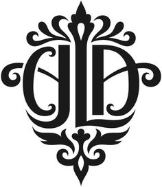 """""""CJLA"""" Monogram Design by tiffanyharvey. A little Ornamented for my personal taste, but very nice symmetrical feel either way"""