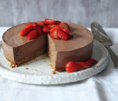 This low-fat cheesecake uses quark, an almost fat-free soft cheese made from skimmed milk