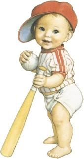 Little baseball player - a Baby Boomer from the 50s