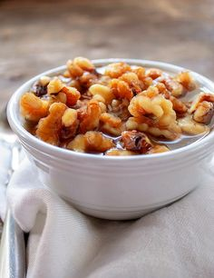 Wet Walnuts - use this easy to make delicious treat for ice cream, pancakes and waffles or stirred into yogurt. Dessert Sauces, Best Dessert Recipes, Fun Desserts, Appetizer Recipes, Snack Recipes, Cooking Recipes, Appetizers, Frozen Desserts, Frozen Treats