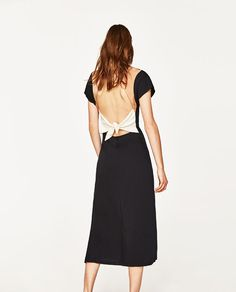 Image 6 of LONG DRESS WITH KNOTTED BACK from Zara