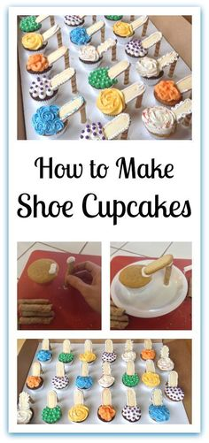 How to make Shoe Cupcakes