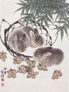 方楚雄作品网上展厅--艺术收藏--人民网 Sumi E Painting, Japan Painting, Chinese Painting, Fox Illustration, Illustrations, Japanese Drawings, Bunny Art, China Art, Watercolor Artists